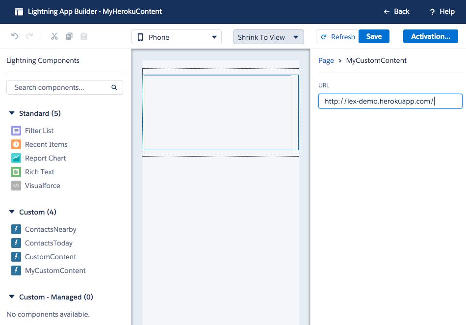 Salesforce Lightning Components - App Container – Igor